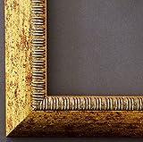 Bilderrahmen Turin Gold 4,0 - LR - Din A1 (59,4 x 84,1 cm) - Wählen Sie aus über 500 Varianten - Alle Größen - Modern, Shabby, Landhaus, Barock, Antik - Fotorahmen Urkundenrahmen Posterrahmen