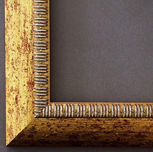 Spiegel Wandspiegel Badspiegel Flurspiegel Garderobenspiegel - Über 200 Größen - Turin Gold 4,0 - Außenmaß des Spiegels 50 x 70 - Wunschmaße auf Anfrage - Antik, Barock
