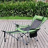 Liegestuhl Leichte Klappbare Nickerchen Büro Mittagspause Stuhl Outdoor Lounge Chair Hohe Rückenlehne Anpassung Liege (Farbe : Color-4)