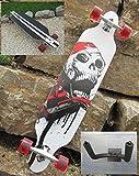 Original Longboard 41 Skull Board & HALTER GRATIS DAZU..! ABEC 11