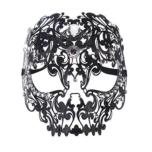 Masken Gesichtsmaske Gesichtsschutz Domino falsche Front Venedig hochgradig Metall Maske Volles Gesicht Party Tanz Brille Sexy Hohl Muster Schmiedeeisen Maske ()