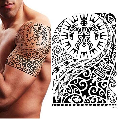 Tzxdbh tribale tatuaggio temporaneo, maori tartaruga, polinesiano, nero, mens, donne