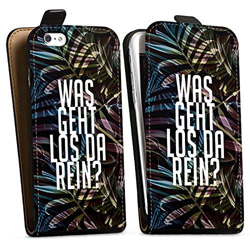 Apple iPhone X Silikon Hülle Case Schutzhülle Dschungelcamp Spruch Ich bin ein Star holt mich hier raus Downflip Tasche schwarz