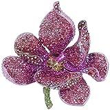 TENYE Spilla Gioiello, Cristallo Austriaco Nuziale Orchidea Fiore Petalo Spilla Rosa Oro-fondo