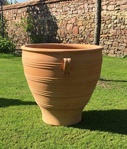 Haute Qualité Terracotta Pot avec anse, au gel, pot de fleurs Décoration de jardin extérieur, 70-80 cm ; ROSA2 80 cm