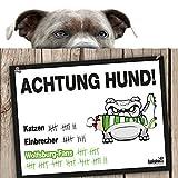 Hunde-Warnschild Schutz vor Wolfsburg-Fans | Eintracht Braunschweig-, Hannover 96- & alle Fußball-Fans, Dieser Revier-Markierer schützt Haus & Hof vor Wolfsburg-Fans | Mit Spaßgarantie für Hundefreu