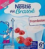 Nestlé Bébé P'tit Brassé Framboise Laitâge dès 6 mois 4 x 100g - Lot de 6