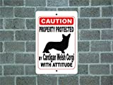 Teisyouhu Funny Hund Schilder Eigentum geschützt Cão Fila de São Miguel Hund Guard Achtung Rasse Metall Aluminium Zeichen für Garage Home Yard Zaun Auffahrt, Aluminium, Color 2, 12x18 inch