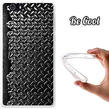 Becool® Fun - Funda Gel Flexible para Elephone M2, Carcasa TPU fabricada con la mejor Silicona, protege y se adapta a la perfección a tu Smartphone y con nuestro exclusivo diseño. Textura de metal
