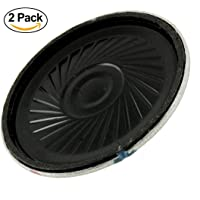 Teflon 0.5W, 8 Ohm 40 mm Dia Magnetic Type Round Metal Shelled Horn Speaker for Digital Phone/Electronic Gifts - Pack of 2