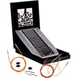 Knit Pro Karbonz - Juego de agujas de tejer circulares intercambiables en un conjunto