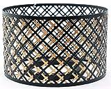 Yankee Candle Lampenschirm, groß, Schwarz / Kupferfarben, Kerze nicht im Lieferumfang enthalten