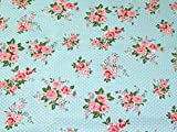 Minerva Crafts Rambling Rose Print Baumwolle Canvas Stoff