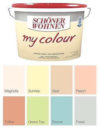 wandfarbe schoner wohnen schaner my colour 5 liter zarte farben green tea matt amazonde baumarkt grau
