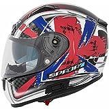 Spada Arc Patriot Full Face casco de moto, color blanco/rojo/azul