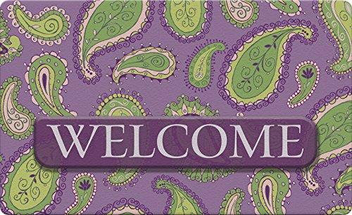 Toland Home Garden Paisley Welcome 45,7x 76,2cm Dekorative Fußmatte Blumen Design - Dekor Persische
