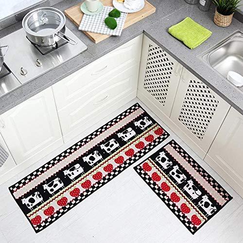 FEIIFEGHYRN Premium Anti Fatigue Comfort Bodenmatte Rutschfester Boden Wasserabweisend Langlebige Haushaltsküche Küche Büro-Stehtische,C -