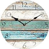 NANIH Home MDF Uhren MDF Uhren 30CM Retro antike europäische und amerikanische Wanduhren Briefkasten Holzmaserung Papier (Color : 3)