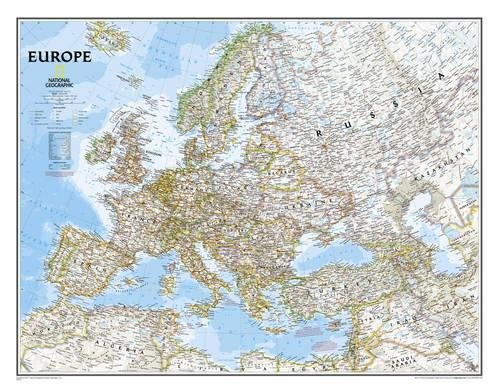 Europe Classic, tubed Wall Maps Continents: NG.PC620070 (Reference - Continents) por National Geographic Maps