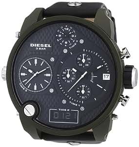 Diesel - DZ7250 - Montre Homme - Quartz Analogique - Digital - Chronomètre - Bracelet Cuir Noir