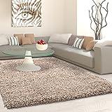 Hochflor Shaggy Teppich Carpet - verschiedene Farben und Größen Neu Top Angebot!, Farbe:Beige, Größe:160x230 cm