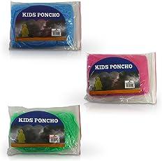 HC-Handel 6 x 913954 Kinder Regenponcho Cape Einheitsgröße verschiedene Farben