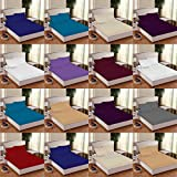 Linen Zone Flat Bed Sheet Easy Care Polycotton 18 Colours