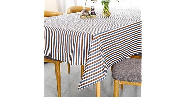 HUANZI Rechteckige Streifen Tischdecken Baumwolle Kunst Quadrat Tischdecke Moderne minimalistische Tischdecken 160 120 C
