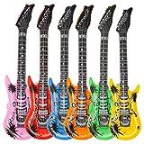 6x Aufblasbare Luftgitarre Rockstar Air-Guitar Luft Gitarre Gitarren aufblasbar 100cm