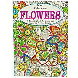 Colorear para Adultos terapia antiestrés de colorear para adulto Relax mente Flowers