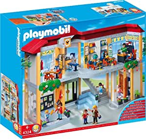 Buy playmobil 4324 school set furnished school building for Salle a manger playmobil city life
