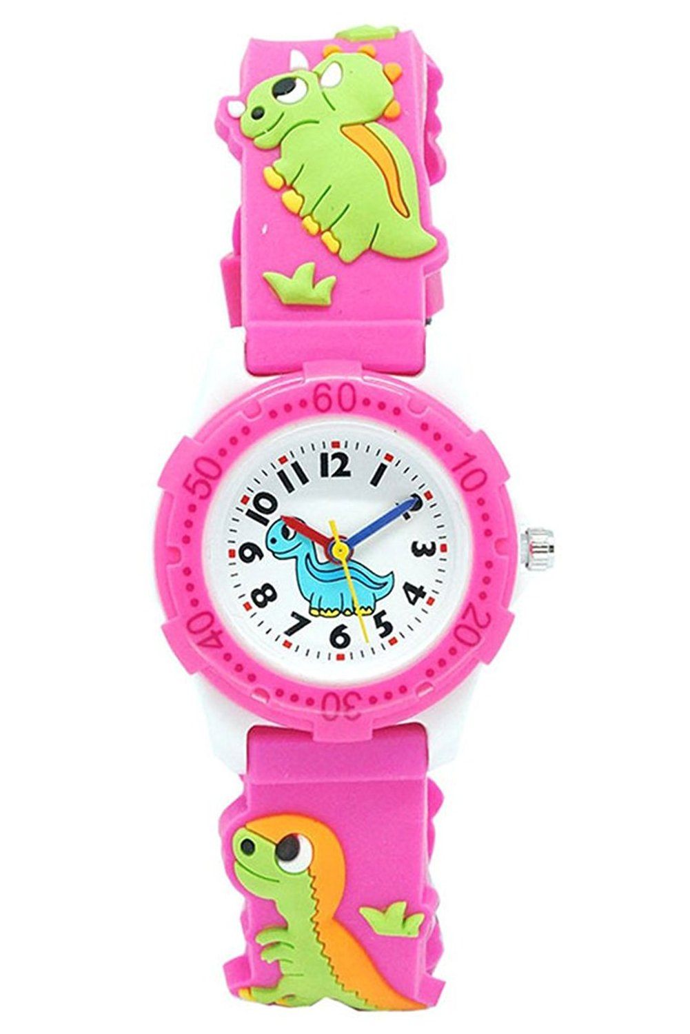 ARPDJK Unisex-Kids Analogue Waterproof Watch, 3d Time Teacher Wrist Cartoon Watch