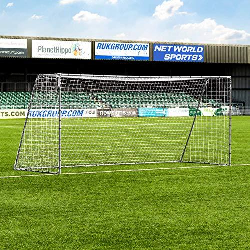 FORZA Steel42 Fußballtore - hochwertiges Garten Tor aus Stahl - 3 Größen erhältlich (4,9m x 2,1m)