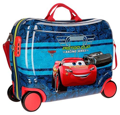Disney Racing Series Valigia per bambini, 50 cm, 34 liters, Blu (Azul)