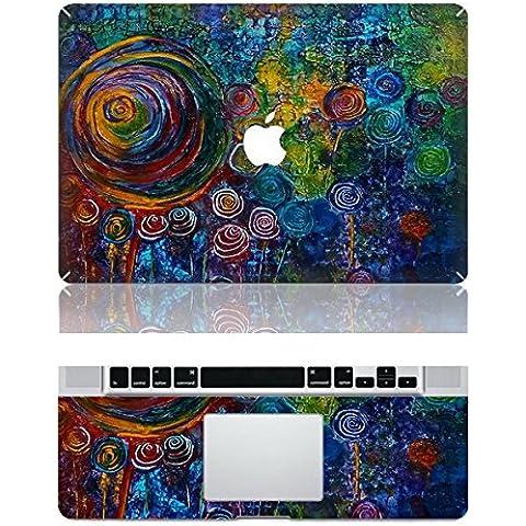 Vati Hojas extraíble piel hermosa Dandelion protectora cubierta completa del arte del vinilo de la etiqueta engomada de la cubierta para Apple MacBook Pro