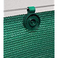 20 clips de fijación para mallas de ocultación de 90 a 350 g/m2