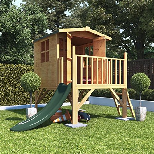 BillyOh Bunny Childrens Wooden Tower Playhouse Including Slide 4x4