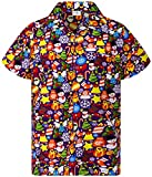 King Kameha Funky Chemise Hawaienne, Noël, Christmas Allover, Pourpre, 3XL