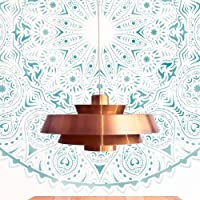 TODO STENCIL Home Decor Rosetón 014 Mandala, Medidas: Stencil 50 x 50 cm - Diseño 48 x 48 cm