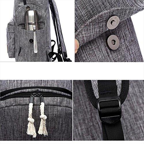 tela tempo libero Retro Maschio / femmina zaino impermeabile indossare Grande capacità zaino 20-35L Può mettere A4 Libri ipad Laptop moda Ogni giorno , blue black