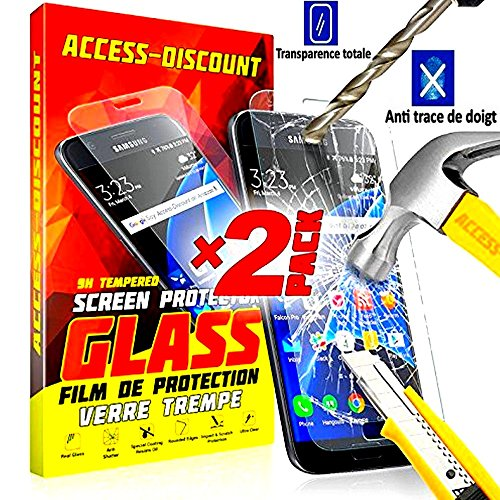 *** COFFRET INCASSABLE ** 2 FILM PROTECTION Ecran en VERRE Trempé SAMSUNG GALAXY A5 2016 filtre protecteur d'écran INVISIBLE & INRAYABLE vitre + STYLET pour Smartphone A 5 6 SM-A510F A5 16 or duos 4G