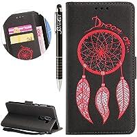 Huawei Honor 6X Hülle, Huawei Honor 6X Hülle Ledertasche Brieftasche im BookStyle, SainCat PU Leder Wallet Case... preisvergleich bei billige-tabletten.eu