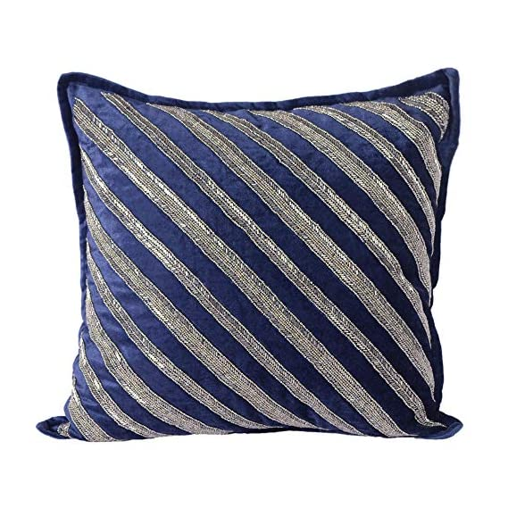 AJS Living Cushion Cover, Pillow for Home Office School Chair seat, Takiya of Beaded Cushions TC - 300, Size - 45 * 45 cm / 18 x 18 Inch