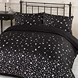 Dreamscene Gorgeous Glitz Diamond Sparkle Duvet Cover Bedding Set, Pink, Double-P