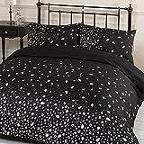 Dreamscene Gorgeous Glitz Diamond Sparkle Duvet Cover Bedding Set, Pink, Double-P