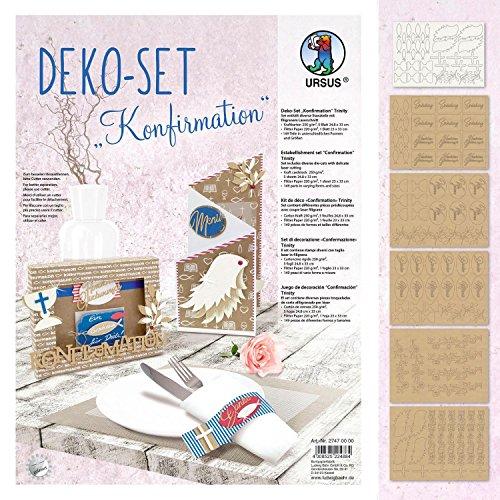 Ursus Deko-Set Konfirmation 6 Blatt Stanzbogen Papier 149 Teile Kirche