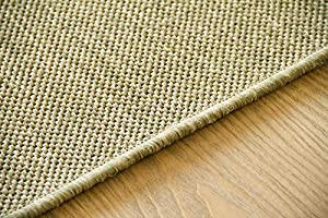 "Flatwoven Rug Gotland Sisal Look Colour Natural - Edge Locked, Outdoor Use, Size 66x130 cm (2'2""x4'3"") from Steffensmeier"