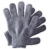 Hydrea London verkohlten Bambus Peeling-Handschuhe bceg1