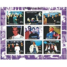 Stamps for collectors - perforated stamp sheet featuring The Backstreet Boys / Kyrgyzstan