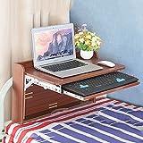 Studentencomputerschreibtisch, Bettnotizbuchschreibtisch, einfacher moderner Klappschreibtisch - Klapptisch (Farbe : Brown)